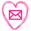 pink heart email