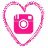 pink heart insta