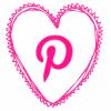 pink heart pinterest