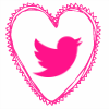 pink heart twitter