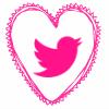 pink heart twitter